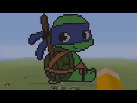 Teenage Mutant Ninja Turtles TMNT MINECRAFT PIXEL Art- Baby Leonardo