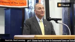 NY Senator Charles Shumer at SUNY Cobleskill