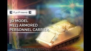 3D Model M113 Armored Personnel Carrier