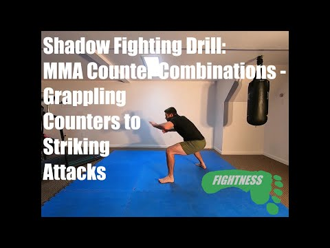 MMA Counters - Grappling Counters to Striking Attacks -  Shadow Fighting Drill - Fightness Home MMA