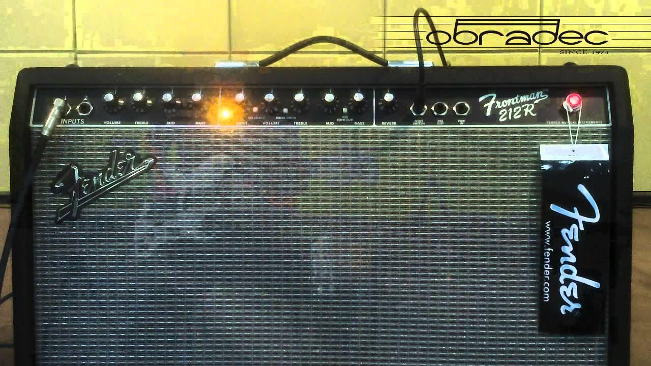 amplificador fender frontman 212r youtube. Black Bedroom Furniture Sets. Home Design Ideas