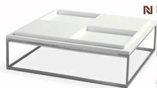 Alphaville Parti Puzzle Coffee Table Ct-part-w From Euro-modern Collection