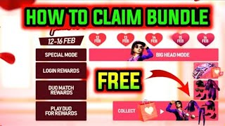 VALENTINE'S PARTY HOW TO CLAIM REWARD FREE FIRE||HOW TO COLLECT VALENTINE TOKENS || NEW EVENT DETAIL