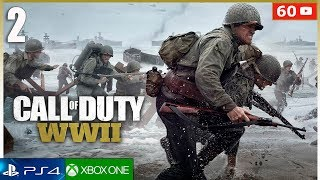 CALL OF DUTY WW2 Gameplay Español Mision 2 PS4 | Campaña Parte 2 (1080p 60fps)