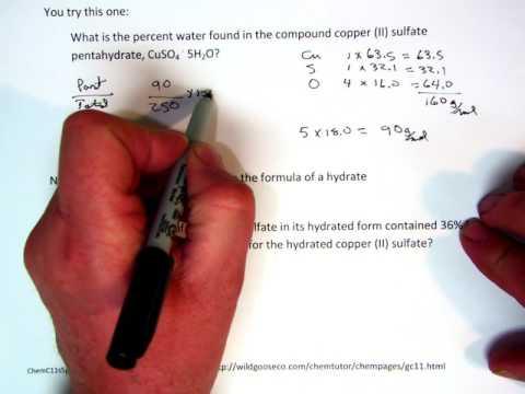 Empirical Formulas For Hydrates