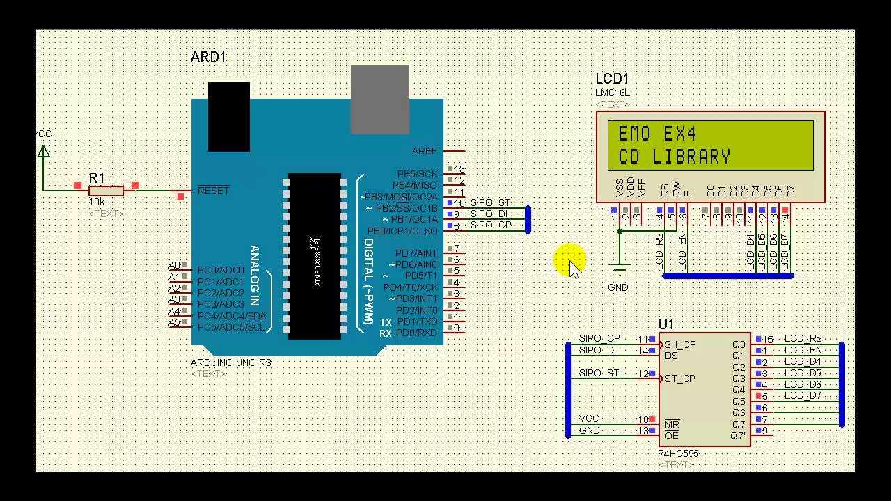 Arduino SIPO LCD Demo - YouTube