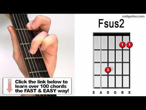 fsus2 chord (guitar)