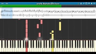 """The Rising Sun"" Shinsuke Nakamura WWE Theme - Piano (Synthesia)"