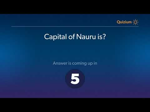 Capital of Nauru is?   Countries and Capitals Quiz