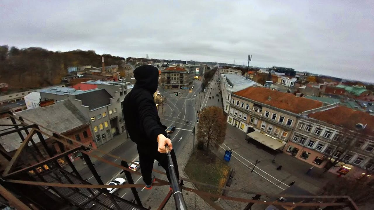 Rooftop Parkour In City Center Pov Youtube