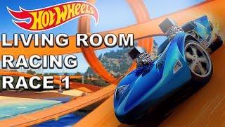 Living Room Racing Hot Wheels Race  1