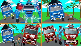 Animasi Lucu Mobil Truk oleng Wahyu Abadi dan Trending Topic jadi transformer VS Penjahat Kompilasi