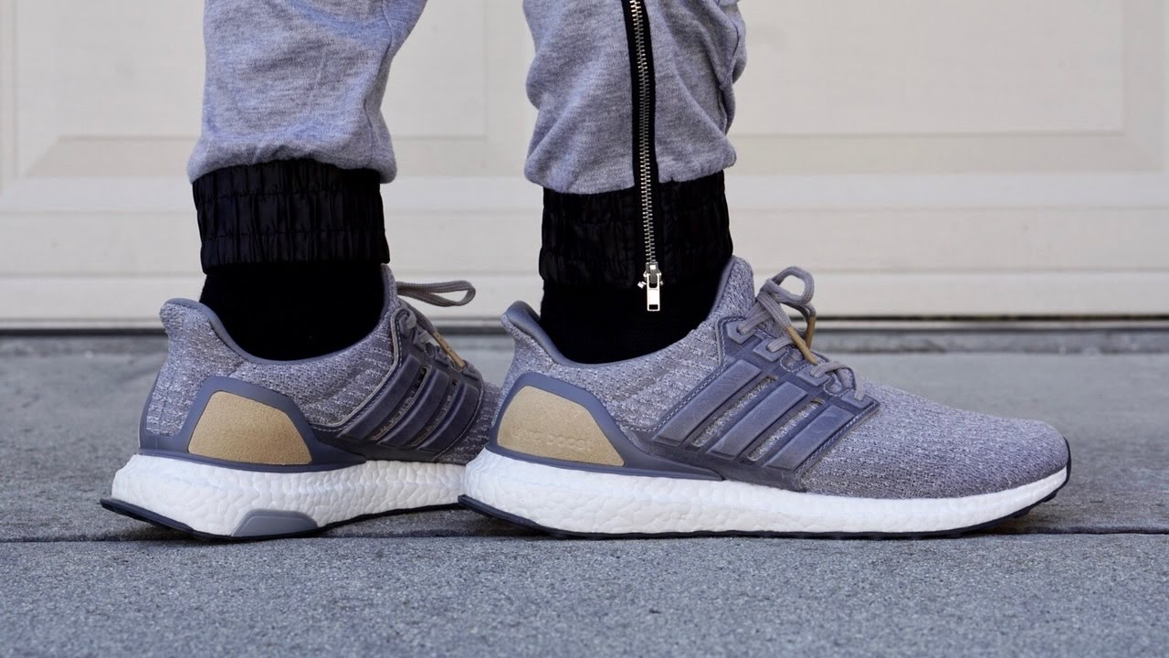 4796bc6ff0d On Feet  Adidas UltraBoost 3.0 LTD (Grey Leather Cage) BB1092 - YouTube