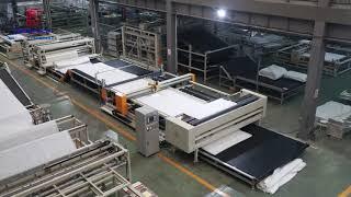 автоматическая швейная машина для производства одеяла из берберского флиса материала