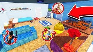 התכווצנו לתוך חדר ענק ושיחקנו בו מחבואים בקריאייטיב! (Fortnite Creative Mode)