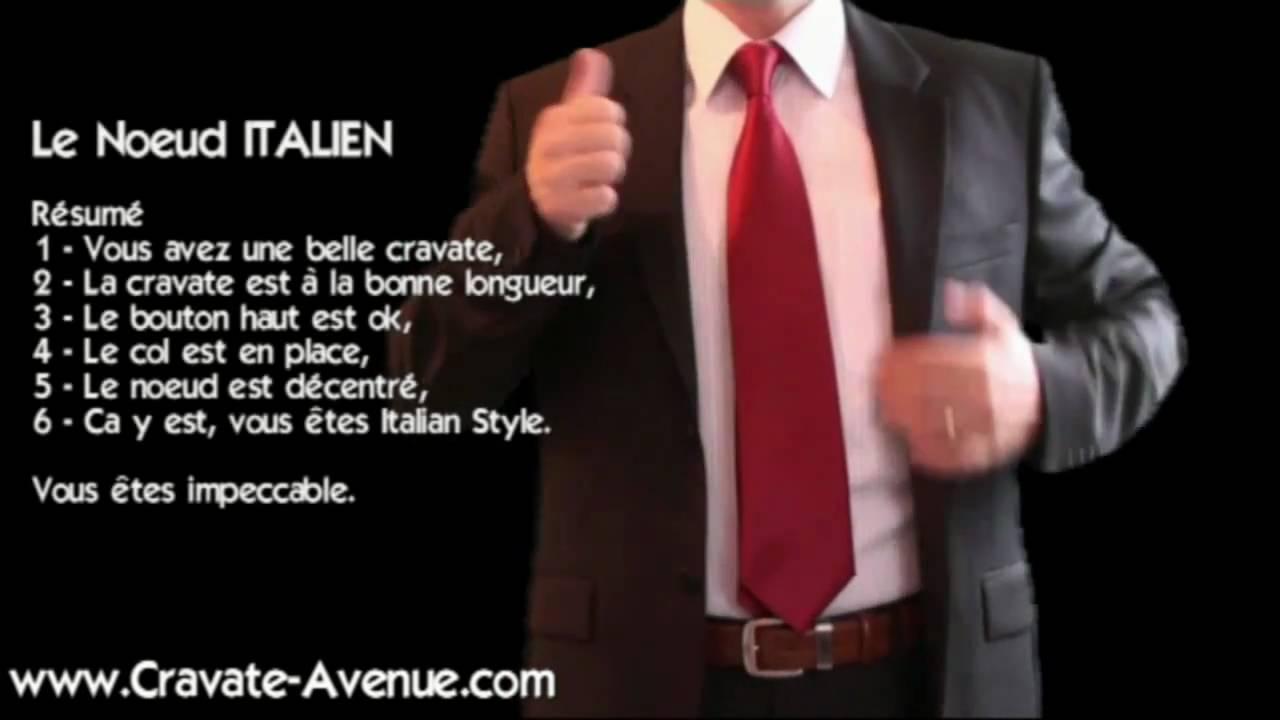 Super LE NOEUD DE CRAVATE ITALIEN - Comment faire un noeud de cravate  BY87