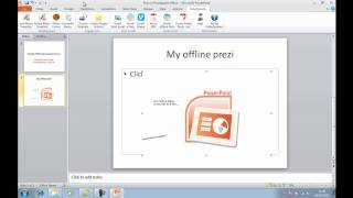 New! Embed offline or downloaded prezi in powerpoint 2007 & 2010 SlideDynamic