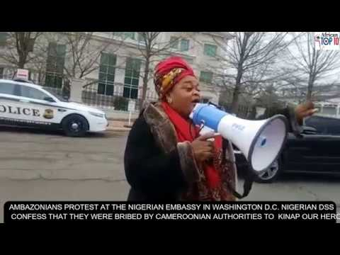 Breaking News Protest in USA Nigerian Embassy and DSS confirm they were bribed