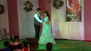 Romantic couple indian wedding dance - khuda jaane & jigar da thukda