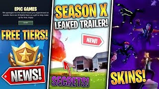 LEAKED SEASON 10 TRAILER, 4 Battlepass Skins, Map & Leaks, BP Gifting, Free Tiers! - Fortnite News