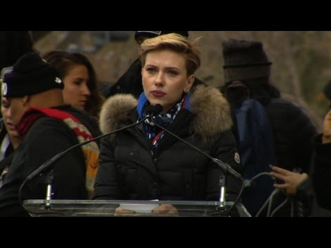 Women's March - Scarlett Johansson to Trump: Support all women