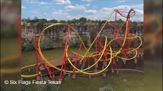 Analysis: Six Flags Fiesta Texas New for 2018 Wonder Woman Golden Lasso Coaster RMC Raptor