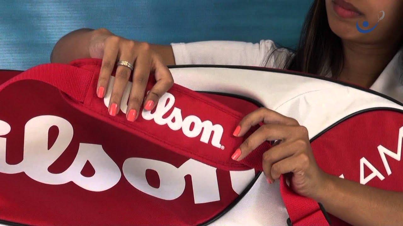 bfca1a74d Raqueteira Wilson Team X6 Branca e Vermelha - YouTube