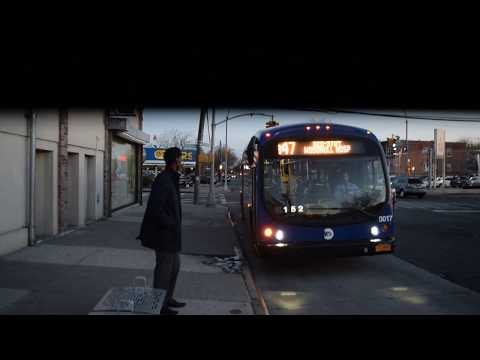 EXCLUSIVE! Bedford-Stuyvesant-bound BE40 (17) B47 bus approaching Ralph/Church Avenues