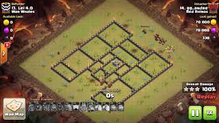 Clash of Clans TH9 GoHo 3 STAR ATTACK