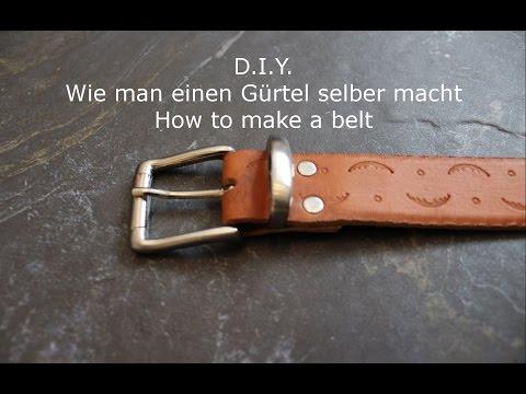 Gürtel selber machen - belt making - DIY - Helmchen