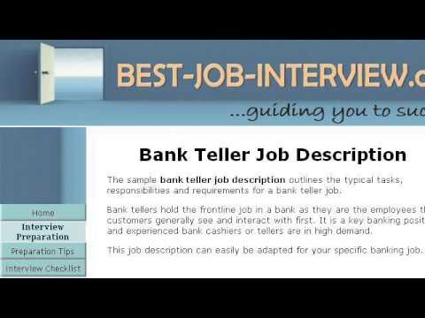 Bank Teller Job Duties  Bank Teller Job Description