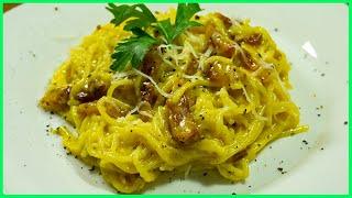 Суппер СЫРНЫЕ спагетти КАРБОНАРА без сливок классический рецепт