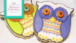 How To Make Halloween Cookies - Cute Easy Owl Cookies