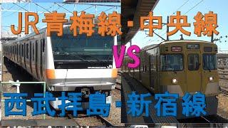 【拝島~新宿】JR青梅線+中央線VS西武!速いのはどっちか!? 検証してきました!【対決シリーズ】