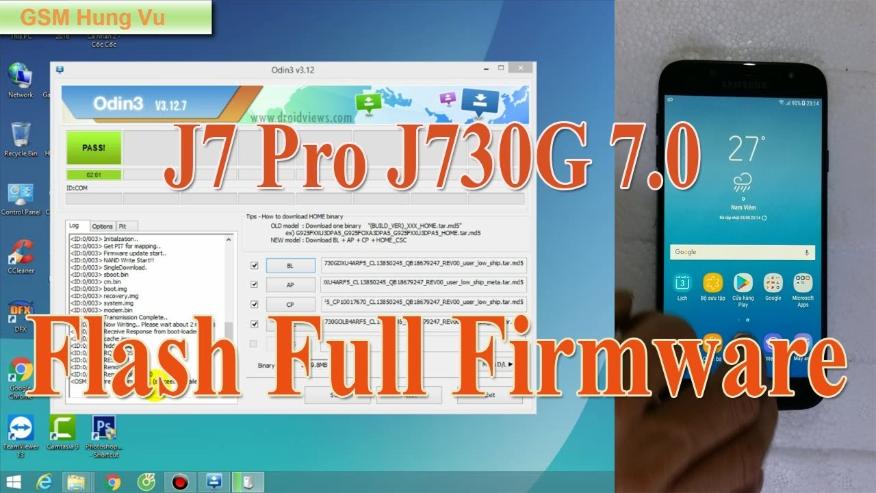 Samsung J7 Pro (J730G) Flash Full File Firmware 7 0 by Odin 3 12 7