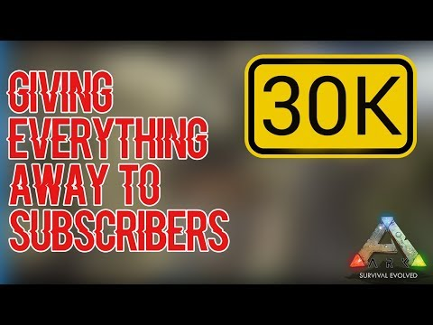 Giving EVERYTHING to Subs(Ty 4 30k subs) - ARK: Official Small Tribes