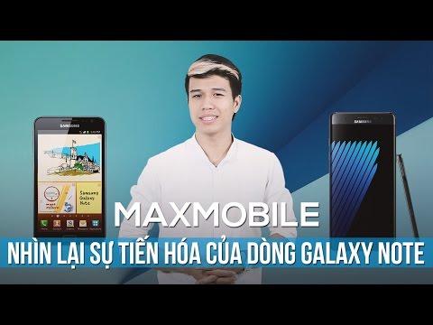 Maxtalk: Nhìn lại sự tiến hóa của dòng Galaxy Note
