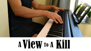 Duran Duran - A View to a Kill (piano cover) - James Bond 007 theme song