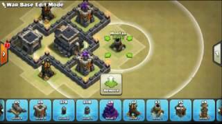 The strongest war base: Base war TH 9 terkuat (replay) - type 1