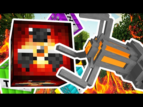 EPIC MODDED TNT WARS (NEW TNT TYPES - NUKE TNT, LAVA TNT, GRAVITY TNT) - MODDED Minigame
