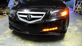 Audi S6 LEDs on Acura TL + Garage build footage