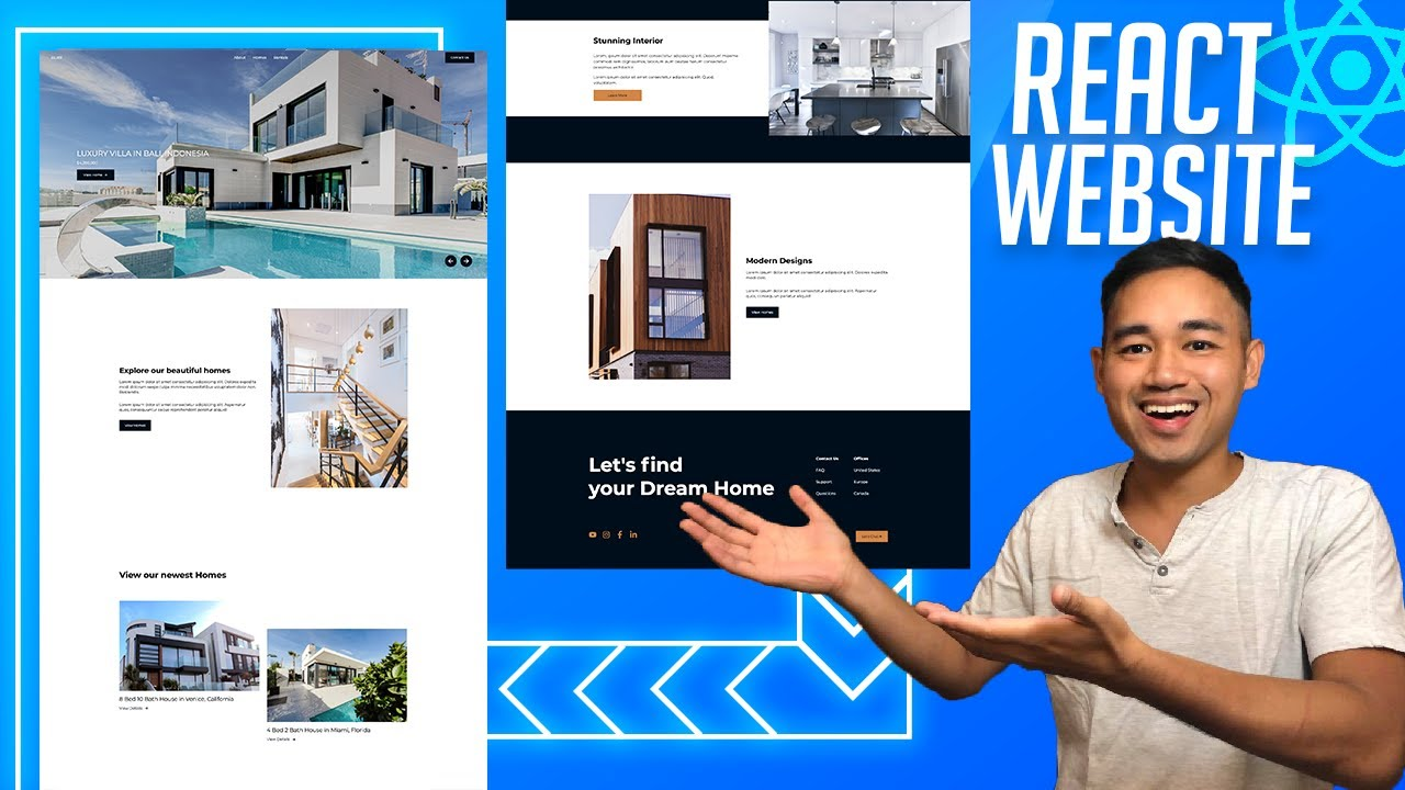 Make a React Website with Animations - Responsive React Project Real Estate Design