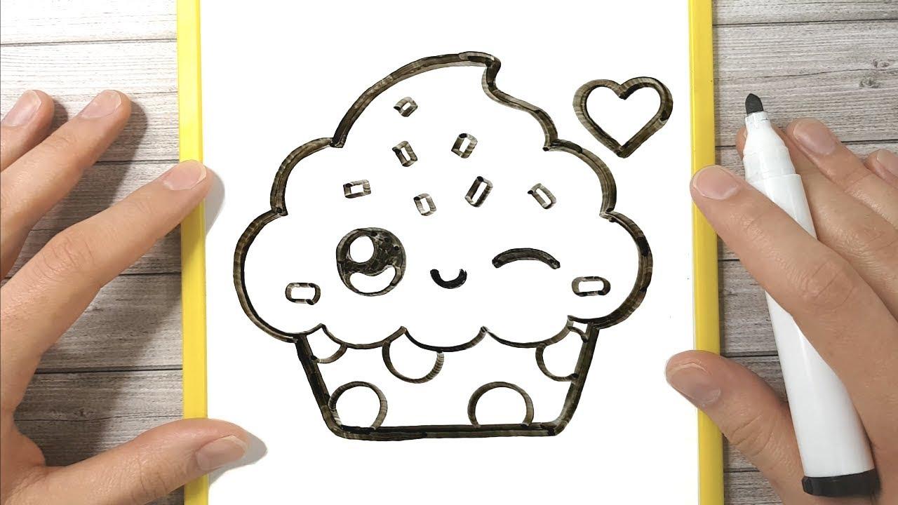 Come Disegnare Un Cupcake Youtube