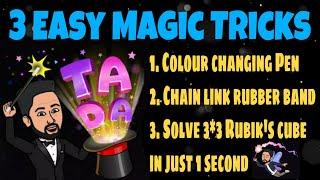 3 Easy Magic Tricks in Tamil  Secret Revealed  Tutorial #magic #trick