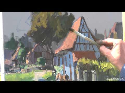 José SALVAGGIO plein air painting 15 Wantzenau
