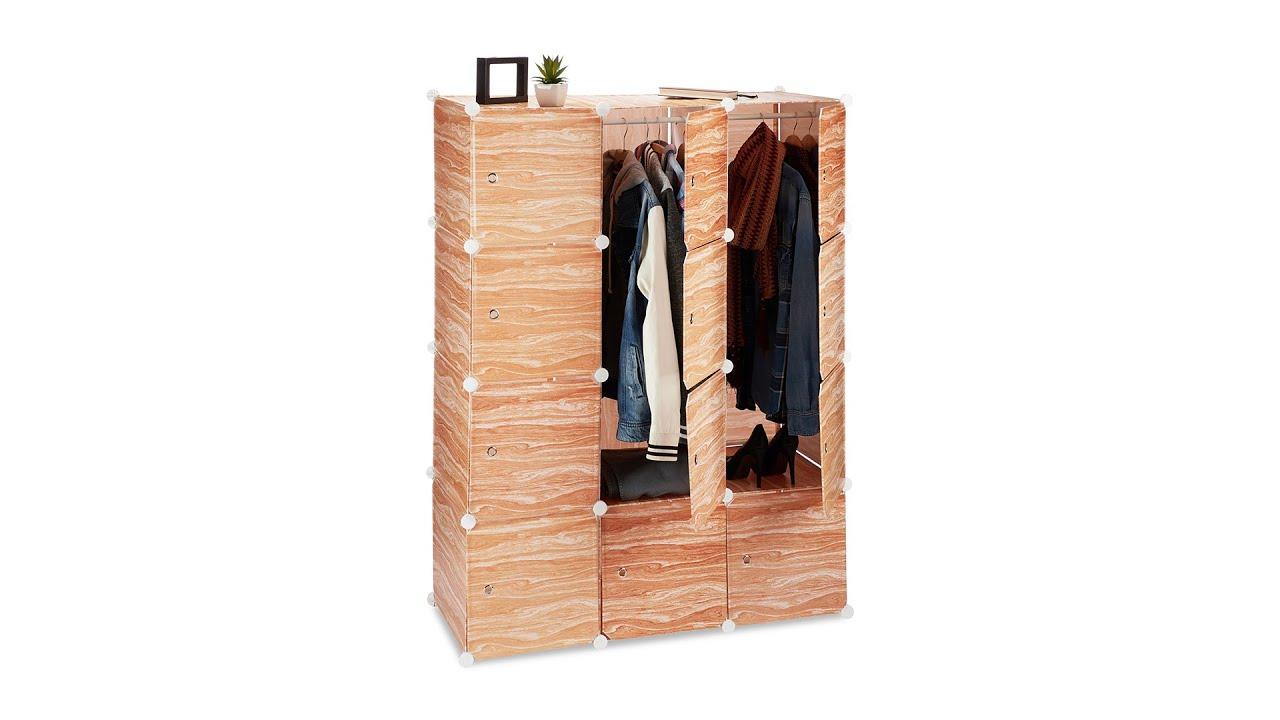 Kleiderschrank Stecksystem In Holzoptik Youtube