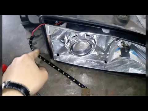 линзы и led ленты в фары.форд мондео 1. видео2 смотреть в хорошем качестве