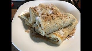 Блины с клубничным джемом/Рецепт идеального теста  для блинов  - Recipe pancakes with strawberry