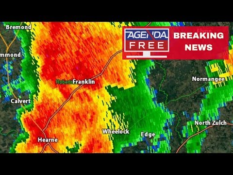 Tornado Damage Reported in Franklin, Texas - LIVE BREAKING NEWS COVERAGE
