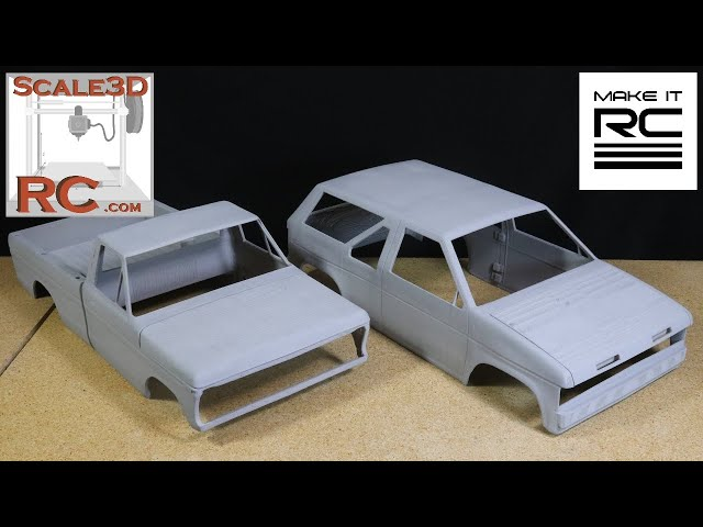 Printing + Assembling 1/10 Scale RC Crawler Bodies From Scale 3D RC